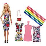 Игровой набор Barbie Crayola Кукла с одеждой и ароматными фломастерами