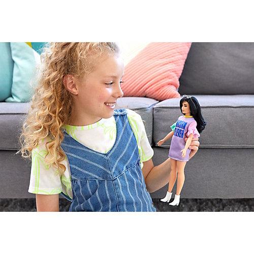 """Кукла Barbie """"Игра с модой"""" Брюнетка в платье с принтом от Mattel"""