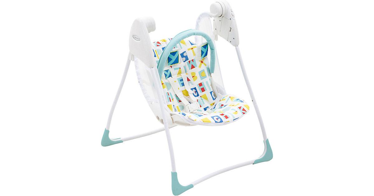 Babyschaukel Baby Delight, Block Alphabet türkis-kombi