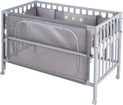 Bettset Baby 8-9 tlg Bettwäsche Nestchen Himmelstange 120x60 Rabbit