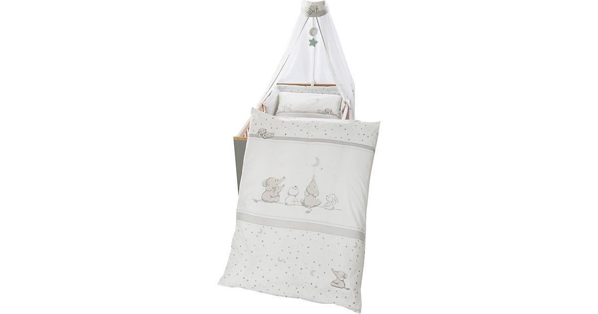 Kinderbettgarnitur Sternenzauber, 4-teilig, grau/weiß/mint