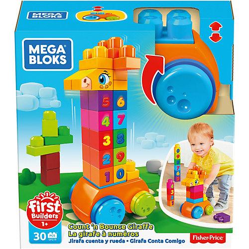 Конструктор Mega Bloks First Builders Жираф 123 от MEGA BLOKS