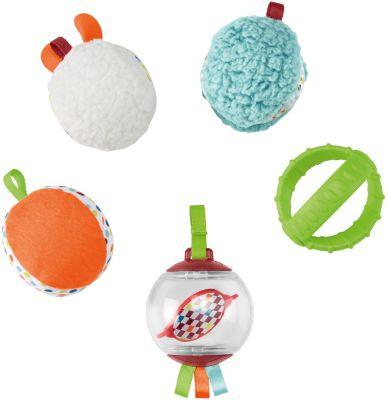 Fisher-Price Fünf Sinne Bälle, Baby-Spielzeug, Baby Ball, Rassel, Sensorik-Spielzeug, Fisher Price