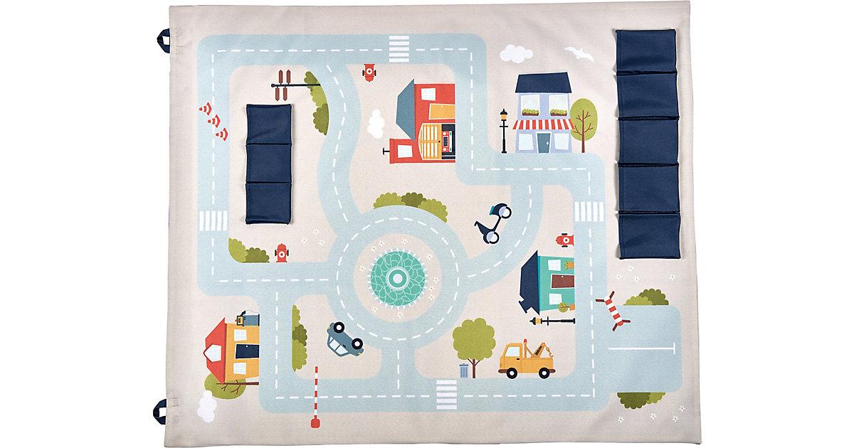 Spielteppich zum Anhängen, Playboard - Motiv Stadt mehrfarbig
