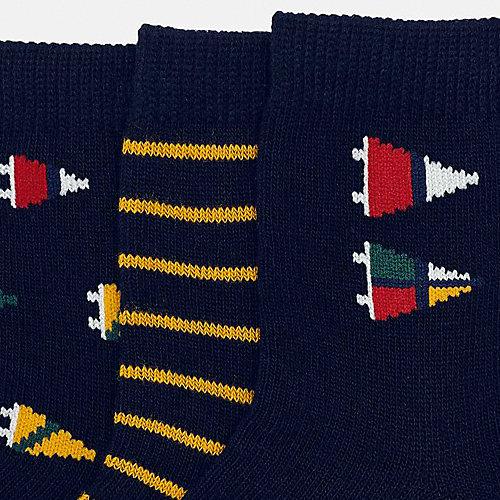 Носки Mayoral, 3 пары - темно-серый от Mayoral