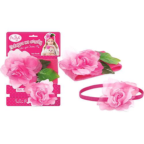 """Комплект повязок на голову Toy Look Budi Basa """"Цветы"""" - розовый от Budi Basa"""