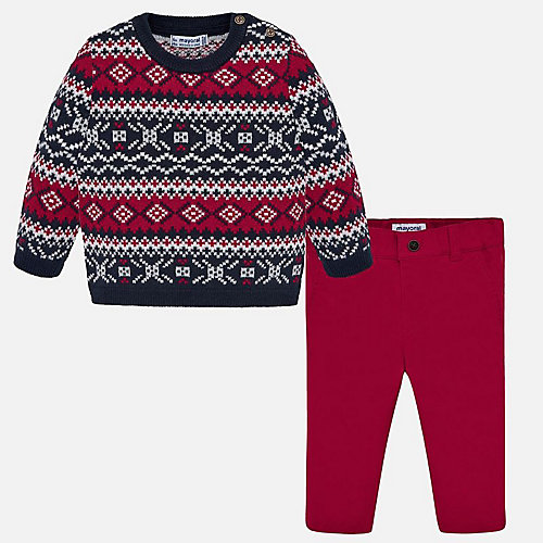 Комплект Mayoral: свитер и брюки - красный от Mayoral