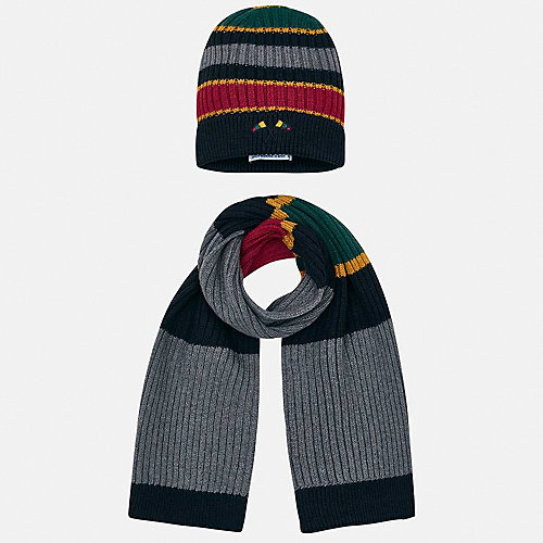 Комплект Mayoral: шапка и шарф - темно-серый от Mayoral