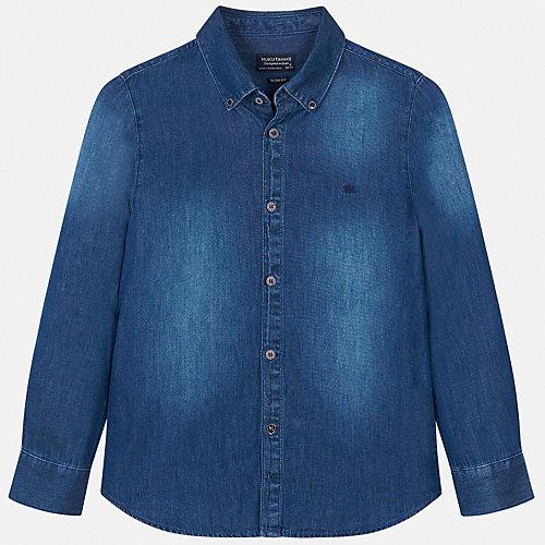 Джинсовая рубашка Mayoral - темно-синий от Mayoral