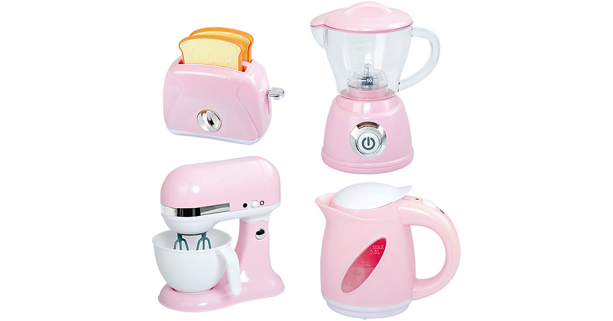 BLEND AND COOK APPLIANCES - PINK (MY BOILING KETTLE B/O, MY BLENDER B/O, MY MIXER B/O, MY TOASTER)   Küche und Esszimmer > Küchengeräte > Toaster   Playgo