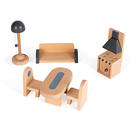 """Кукольный домик Janod """"Мадемуазель"""", 11 элементов мебели от Janod"""