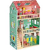 Кукольный домик Janod Happy Day, 12 элементов мебели