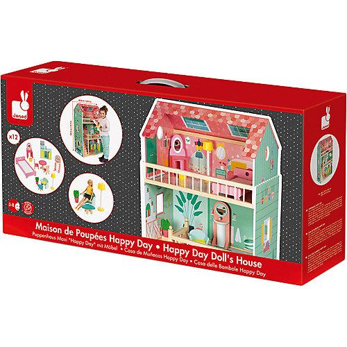 Кукольный домик Janod Happy Day, 12 элементов мебели от Janod