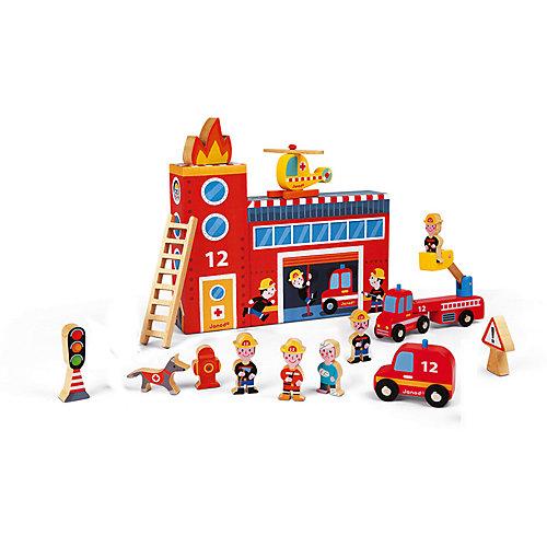 """Игровой набор Janod """"Пожарные"""", с деревянными фигурками от Janod"""