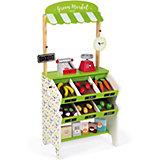 Мини-магазин Janod Green Market, 32 предмета