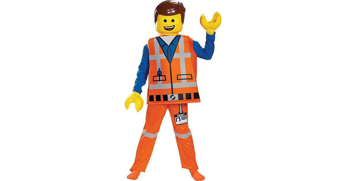 Kostüm Emmet Lego Movie 2 M (7-8 J.) orange Gr. 128/134
