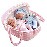 Куклы-двойняшки Arias в люльке-переноске, 28 см