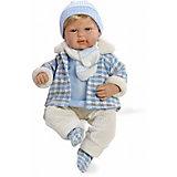 Кукла Arias в теплой курточке, звук, 45 см