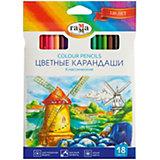 """Цветные карандаши Гамма """"Классические"""", 18 цветов"""
