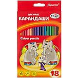 """Цветные карандаши Гамма """"Мультики"""", 18 цветов"""