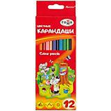"""Цветные карандаши Гамма """"Мультики"""", 12 цветов"""