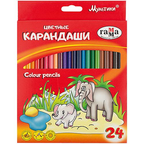 "Цветные карандаши Гамма ""Мультики"", 24 цвета от ГАММА"