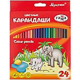 """Цветные карандаши Гамма """"Мультики"""", 24 цвета"""