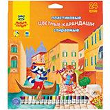 """Цветные карандаши Мульти-Пульти """"Енот в Венеции"""", 24 цвета"""