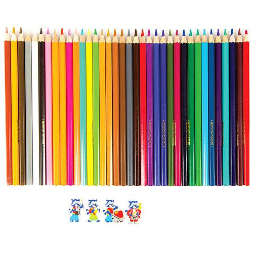 """Акварельные карандаши Мульти-Пульти """"Енот в Карибском море"""", 36 цветов от Мульти-Пульти"""