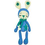 Вязаная игрушка Niki Toys Зайчонок Астерикс, голубой, 45см