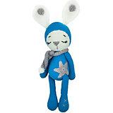 Вязаная игрушка Niki Toys Зайчонок Астерикс, синий, 45см
