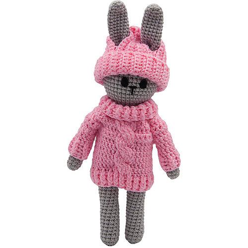 Вязаная игрушка Niki Toys Заяц в свитере, 35см от Niki Toys