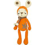 Вязаная игрушка Niki Toys Зайчонок Астерикс, оранжевый, 45см