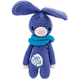 Вязаная игрушка Niki Toys Фиолетовый заяц, 33см