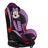 Автокресло Siger Кокон ISOFIX Disney Микки Маус звёзды, 9-25 кг, фиолетовое