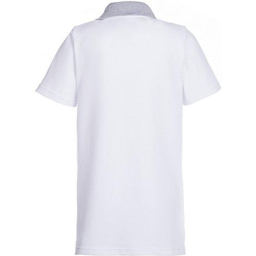Поло Апрель - белый/серый от Апрель