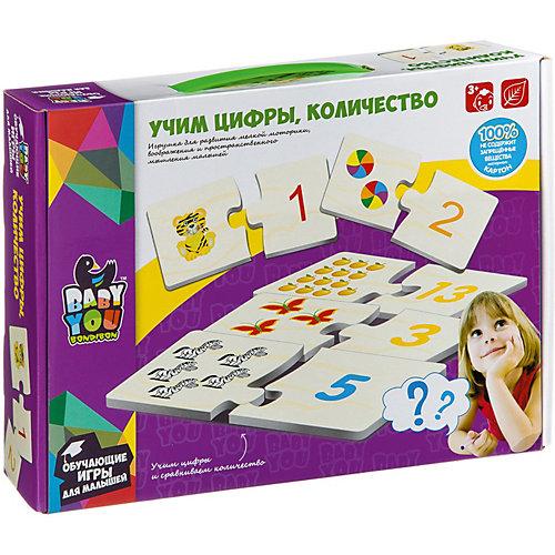 """Набор карточек-пазлов Bondibon """"Учим цифры, количество"""" от Bondibon"""