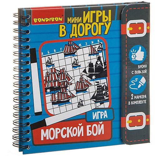 """Развивающие игры в дорогу Bondibon """"Морской бой"""""""