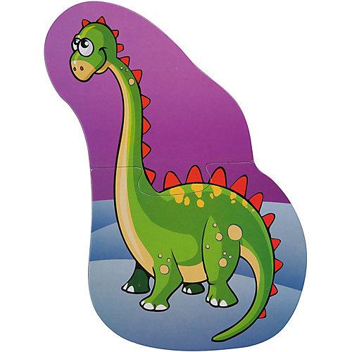 "Набор пазлов Bondibon ""Динозавры"", 4 пазла от Bondibon"