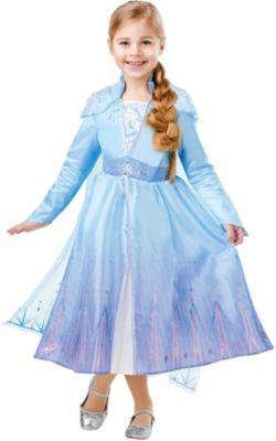 Silver Blue Princess Mädchen Kostüm Cinderella Frozen Elsa Eiskönigin Prinzessin