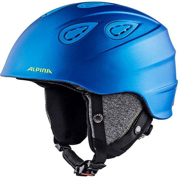 Skihelm Grap 2.0 blue neon-yellow matt 57-61