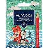 Карандаши цветные укороченные FunColor, 12 цветов, Bruno Visconti