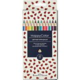 Карандаши цветные HappyColor, 12 цветов, Bruno Visconti