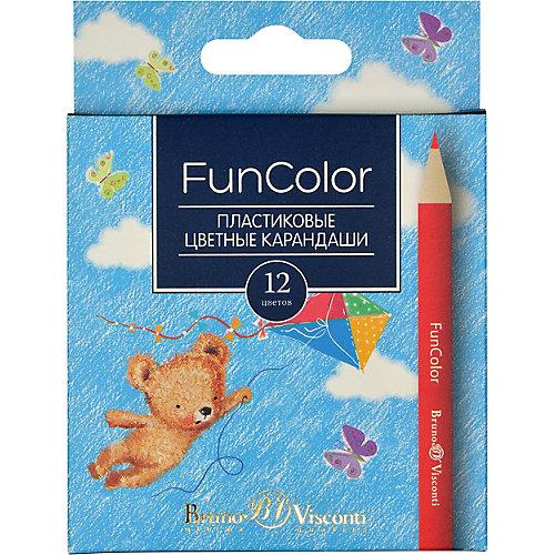 Карандаши цветные укороченные FunColor, 12 цветов, Bruno Visconti от Bruno Visconti