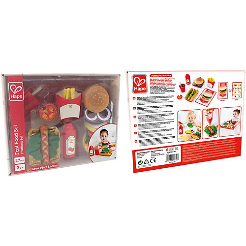 Игровой набор Hape Fast Food, 27 предметов от Hape