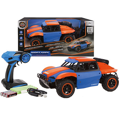 "Машина Пламенный мотор ""Шорт корс: Торнадо"", сине-оранжевая от Пламенный мотор"