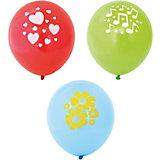 Воздушные шары Action! С одноцветным рисунком, 5 шт