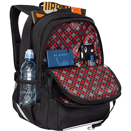 Рюкзак школьный Grizzly, черно - серый от Grizzly