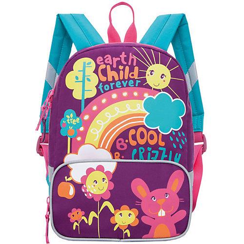 Рюкзак детский Grizzly, лилово - бирюзовый от Grizzly