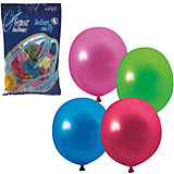 Воздушные шары Веселая затея, 100 шт, металлик